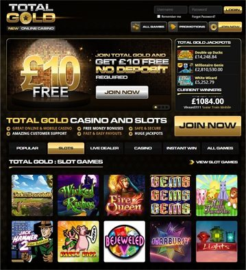 Total Gold Online Casino Games