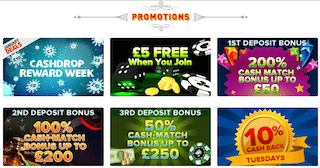 CoinFalls Casino Promotions