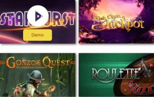 play top UK slots and table games