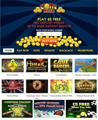 CoinFalls Online Casino