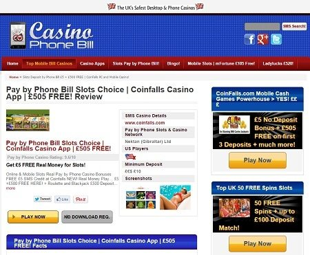 mobile casino sites no deposit