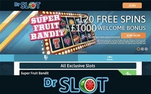 free spins Dr Slot sign in bonus